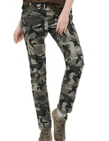 Hot New Women's Army Cargo Pants Women Camouflage Caogo Pant Military Khaki Color Pencil Pants Skinny Jeans For Women AW13P003
