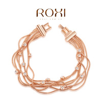 ROXI Best Gift For Girlfriend Genuine Austrian Crystals Classic Bead Bracelet Gold Plated  fashion jewelry 2060007750