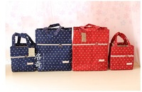 Lace decoration canvas Cooler Bag Lunch Bag Thermal Bag Cooler Box Lunch Box Nylon lace polka dot INsulation bag ice pack Large