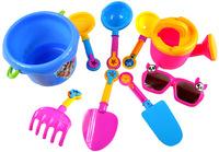Beach toys nine sets of beach bathing / swimming educational toys with ink eye ATV / barrel