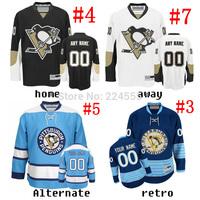 personaliy Custom Pittsburgh Penguins Jersey 87#Sidney Crosby 71#Evgeni Malkin 58#Chris Letang 66#Marrio Lemieux 29#Andre Fleury