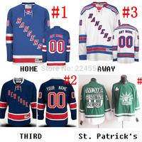 2014 FINALS New York Rangers Jersey Custom Home/Away/Alternate sewn on any name/NO./SIZE henrik lundqvist/derek stepan jersey