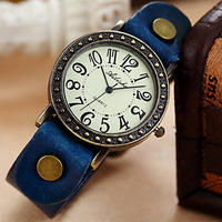 New Arrivals Ladies retro punk style carved dial watches,Vintage PU leather strap watch for women and men S222