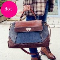 2013 fashion crocodile pattern handbag messenger bag female