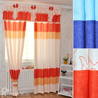 Readymade quality modern brief cloth curtain 3M wide*2.7M high with hook type also can customize&match window screening