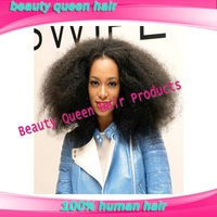 Sexy natural color afro kinky curly u part wig human hair wig free shipping in stock