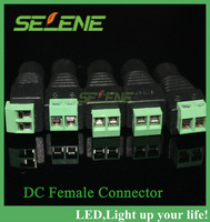Free Shipping DC Power Female  Connector 10 pieces / lot For CCTV Cameras And Led Strip Light