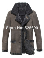 Australian imports of natural fur coat man in the long section of men's wear fur leather male Merino Sheepskin coat Lei&Yu