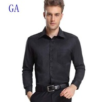New 2013 Men Fashion Brand Solid Long Sleeve Business Shirts/High Quality Office Dress Shirt/Tops A55015 size S-XXXL Free Ship