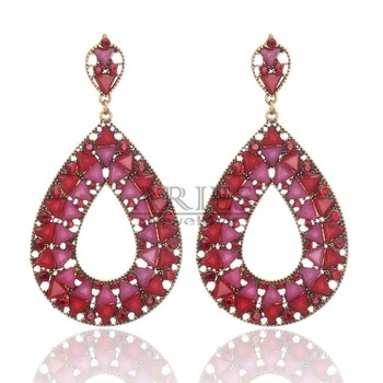 2013 новых высокое качество лучше всего- продажи ювелирные изделия смолы полых прозрачный слеза- формы серьги падение e-047 для женщин