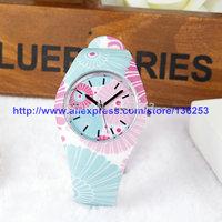 Retro GENEVA Quartz Bracelet Watch Ladies Party Silicone Watches Casual Women Dress Analog Wristwatches100pcs/lot 10Colors