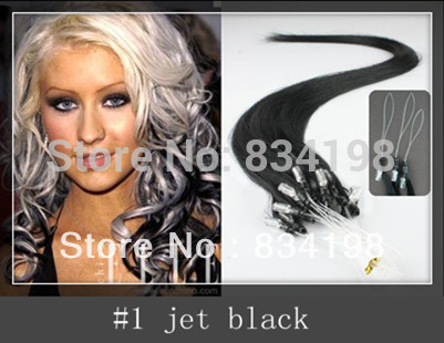 16 Inch Black Human Hair Extensions 93
