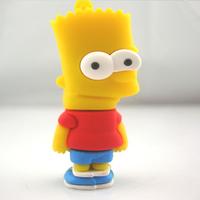 UFD0197 wholesale&retail freeshipping(>US$5)  Bart Simpons cartoon The Simpsons Gift USB Flash Drive hotsale USB Disk  4GB-64GB