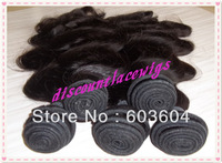 Fumi hair--Cheap and  High quality  brazilian virgin hair extension natural straight with wave tangle free no shedding