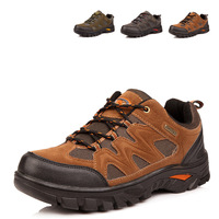 2013 International brand men's leather hiking shoes hiking outdoor ultra-lightweight breathable running shoes men shoes sneakers