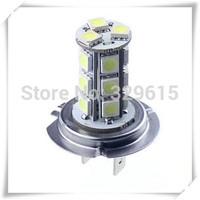 Free Shipping 10pcs H7 18 SMD 5050 Pure White Fog Tail Signal 18 LED Car Light Lamp Bulb 12V
