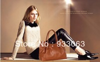 Free shipping New Fashion genuine leather women's handbag first layer of cowhide messenger bag handbag bag famous in Europe male