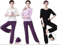 Free shipping Jinnah  Brahma song spring and summer yoga clothes piece set 16020 subalpine 8001 9128 deep purple three pcs/set