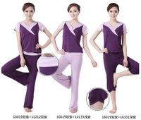 Free shipping high quality  Brahma song spring and summer yoga clothes 2pcs a  set  free bra several colors for matching