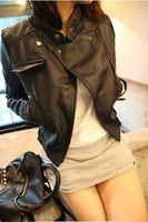 Free shipping! 2013 hot sell bran fashion women's genuine leather jacket coat  women motorcycle sheepskin  jacket coat S-XL
