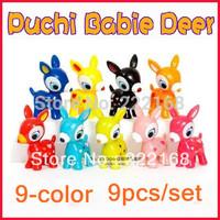 DIY Puchi Babie Deer Mini Little Deer Doll Dolls 9pcs/set Free Shipping