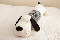 90cm big cute papa dog dolls plush doll stuffed animal toys with red & blue & black stripe clothing pillows christmas gifts