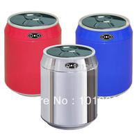 2L/0.53Gal Stainless Steel+Plastic Desktop Automatic Infrared Motion Sensor Trash Can Auto Sensor Dustbin Silver/Blue Color