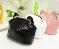 Lovely mini  the cat ear bag 2014 women's small messenger bag