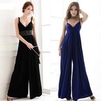 2013 Hot Sell! Sexy Beach Dress V-Neck Solid Color Long Style Large Size Party Dress Wholesale! Drop Shipping Support!