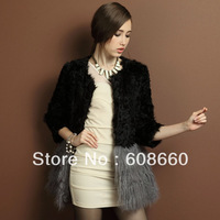 Free shipping genuine full leather ladies' winter coat 2013 berber fleece beach wool fur coat sweep medium-long skirt design