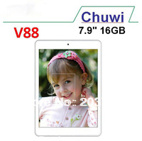 Free Shipping CHUWI V88 Quad Core Mini Pad 7.9 inch IPS RK3188 2GB RAM 16GB Dual Camera Bluetooth 5.0MP Camera HDMI Tablet PC