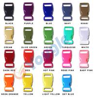 """100 pcs 5/8"""" Side Release Contoured Curved Buckle for Bag DIY Webbing Straps Paracord Bracelet"""