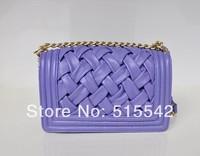 Free shipping 2014 women hotsale Selling new female bag high-grade knitting sheepskin shoulder inclined bag 66018