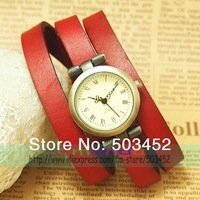 Promotion 100pcs/lot,Luxury Wrap Around Watch Dress Ladies Leather Watch,2colors Available,DHL Free Shipping To Usa/Europe,