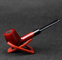 Classic 14cm Straight Smoking Pipe Tobacco Briar Genuine Wood Smoking Pipe Cheap Sale