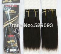 Wennie's 1B# Black Original Human Hair Weave Extension 8''10''12'' 300g Light Yaki Straight African American Style Free Shipping