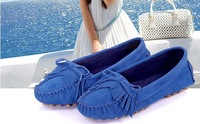 2013 thangka fashion tassel sand genuine leather gommini loafers casual plus size flat heel single shoes flatbottomed women's