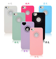 Promotion wholesale brand new frosted case cute flower heart couples mobile phone case for apple iPhone 4 4s 1000pcs/lot (E5F)