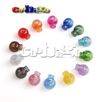 100pcs Pack Mixed Color Cord Lock Toggle Stopper plastic Transparent clear frost   #FLS046-T(Mix)