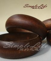 Bohemia vintage national trend unique wooden logs of wood bracelet solid color wood bracelet accessories bracelet