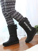 Free shipping 2013 new fashion warm woman flat snow boots for women and women's autumn winter shoes