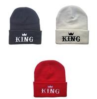 Freeshipping Hiphop KING Beanie hats black red white  men & women's classics kni beanies caps cheap bboy Skullies !