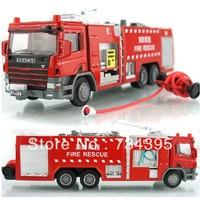 Kaidi Wei alloy construction car die cast model water tank fire truck firetruck ladder climbing children's educational toys gift