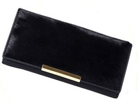 New 2013 Ms authentic Gaofan black horsehair face genuine leather long wallet card package necessaire for perfume women