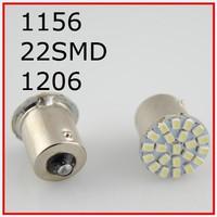 New Wholesale Free Shipping 100pcs/lot 12V S25 BA15S 1156 22SMD 1206 direction indicator lamp/backup light white