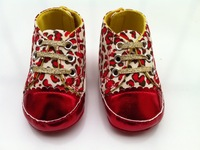 Brand G Baby girl's canvas leopard flower red in fashion retail  first walkers shoes