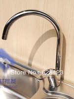 Map Kitchen Rotatable Faucets Hot And Cold Faucet Single Holder Single Hole Deck Mounted T073G Free Shipping