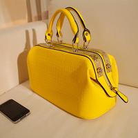 free shipping 2013 new women's handbag vintage OL outfit crocodile pattern handbags doctor bag female glossy shaping bag