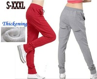 Thickening Harem Warm Pants Women Winter New 2013 Fitness Cotton Pencil Casual Trousers Sweat Pants  & Capris Plus Size AW13P005