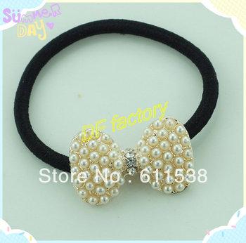 hot sale Korean fashion flash rhinestone pearl butterfly hair band hot sale hair accessories( 20 pieces/lot)
